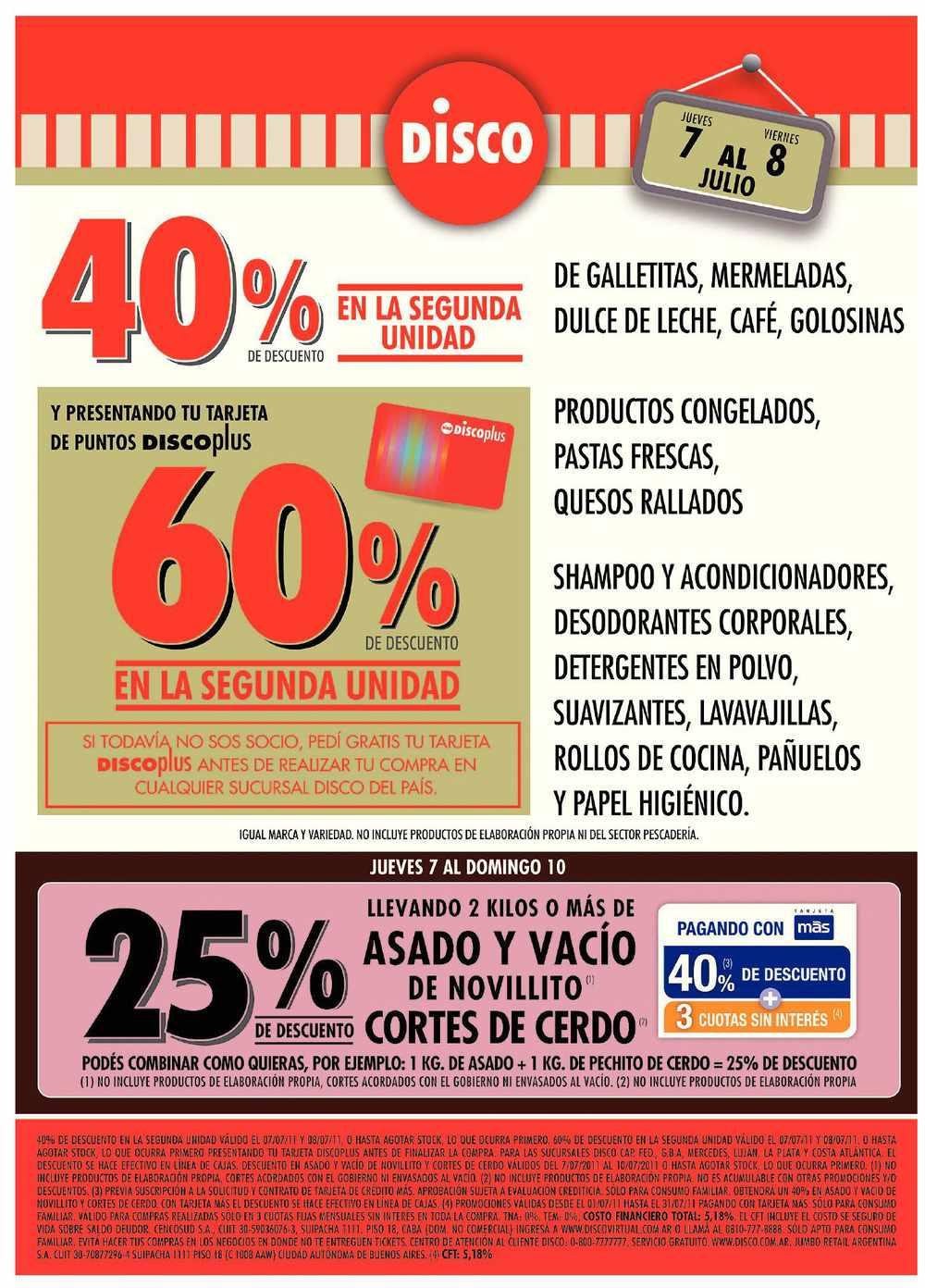 Disco Ofertas Promociones Y Descuentos En Disco | Autos Weblog